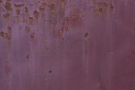 stock photo of rusty-spotted  - Old  metallic surface background with rusty spots - JPG