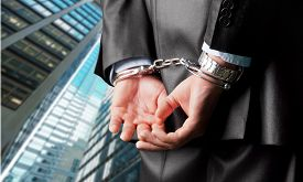 pic of handcuff  - Handcuffs Arrest White Collar Crime Business Bribing Men Law - JPG