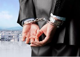 foto of handcuff  - Handcuffs Arrest White Collar Crime Business Bribing Men Law - JPG