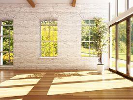 image of stone floor  - Empty room of business - JPG