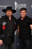 LAS VEGAS - APR 3:  Montgomery Gentry arrive at the Academy of Country Music Awards 2011 at MGM Grand Garden Arena on April 3, 2010 in Las Vegas, NV.