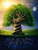World tree as incarnation of the universe as a whole poster