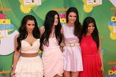 LOS ANGELES - APR 2:  Kim Kardashian, Kendall Jenner, Kylie Jenner, and Kourtney Kardashian  arrive at the 2011 Kids Choice Awards at Galen Center, USC on April 2, 2011 in Los Angeles, CA