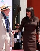 LOS ANGELES - APR 30:  Peter O'Toole, Anjelica Huston attending the Peter O'Toole Hand & Footprint C