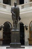 Artigas's Statue inside the post office building in Montevideo, Uruguay, 2008