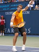 LOS ANGELES, CA. - JULY 27: Pete Sampras (picture) and Marat Safin play an exhibition match at the L