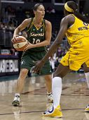 LOS ANGELES, CA. - SEPTEMBER 16: Sue Bird in action during the WNBA playoff game of the Sparks vs. S