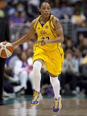 LOS ANGELES, CA. - SEPTEMBER 16: Betty Lennox in action during the WNBA playoff game of the Sparks v