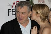 HOLLYWOOD, CA. - NOVEMBER 3: Robert De Niro (L) and Drew Barrymore (R) attend the AFI Fest premier o