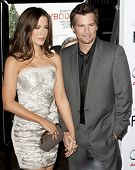 HOLLYWOOD, CA. - NOVEMBER 3: Kate Beckinsale (L) and Len Wiseman (R) attend the AFI Fest premier of