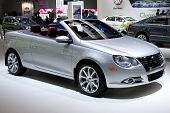 LOS ANGELES, CA. - DECEMBER 3: 2010 VW EOS Convertible on display at the 2009 Los Angeles Auto Show on December 3, 2009 at the L.A. Convention Center in Los Angeles.
