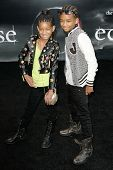 LOS ANGELES, CA. - JUNE 24: Willow Smith (L) and Jaden Smith (R) attend The Twilight Saga Eclipse  Los Angeles premiere on June 24th, 2010 at The Nokia Theater in Los Angeles, Ca.