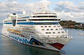 ANTIGUA - DEC 1: AIDAluna is a Sphinx class cruise ship, owned and operated by AIDA Cruises & has a