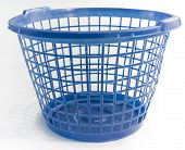 Blue Empty Laundry Basket