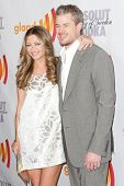 LOS ANGELES, CA. - APR 17: Actress Rebecca Gayheart and actor Eric Dane arrive at the 21st Annual GL