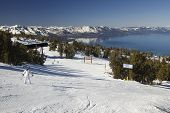 Novice On A Ski Slope