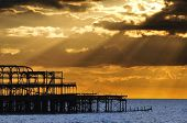 The West Pier in Brighton, UK
