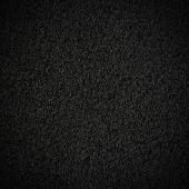 Textura de tecido de lã preta com vinheta