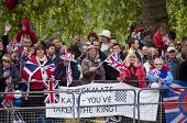 LONDON, UK - APRIL 29: The crowd at Prince William and Kate Middleton wedding, April 29, 2011 in London, United Kingdom