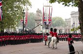 LONDON, UK - APRIL 29: Royal guards at Prince William and Kate Middleton wedding, April 29, 2011 in London, United Kingdom