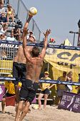 GLENDALE, AZ - SEPTEMBER 27: Olympic gold medalist Phil Dalhausser and AVP pro Sean Scott compete at