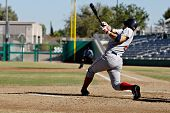 MESA, AZ - NOV 20: Mark Wagner of the Scottsdale Scorpions hits a home run in the Arizona Fall Leagu