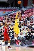 GLENDALE, AZ - DECEMBER 20: Lawrence Westbrook of the Minnesota Gophers puts up a jump shot in the basketball game against the Louisville Cardinals on December 20, 2008 in Glendale, Arizona.