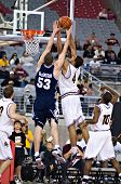 GLENDALE, AZ - DECEMBER 20: Jeff Pendergraph #4 of Arizona State University and Gavin MacGregor #53
