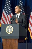 MESA, AZ - FEBRUARY 18: President Barack Obama speaks about the home mortgage crisis at Dobson High