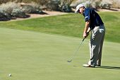 SCOTTSDALE, AZ - OCTOBER 22: D.A. Points putts in the Frys.com Open PGA golf tournament on October 2