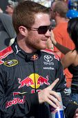 AVONDALE, AZ - APRIL 10: NASCAR driver Brian Vickers makes an appearance before the start of the Sub