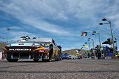 AVONDALE, AZ - APRIL 10: The #6 UPS Ford car, driven by David Ragan, awaits the start of the Subway