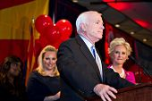 PHOENIX, AZ - NOVEMBER 2: Senator John McCain celebrates victory in his 2010 Senate campaign on November 2, 2010 in Phoenix, Arizona.