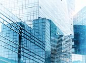 Architecture details Modern Building Glass facade Business background poster