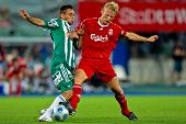 VIENNA,  AUSTRIA - JULY 19 Friendship game between SK Rapid and Liverpool FC: Striker Dirk Kuyt (#18