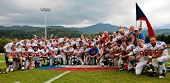 WOLFSBERG, AUSTRIA - AUGUST 22 American Football B-EC: The team of Czech Republic places third on August 22, 2009 in Wolfsberg, Austria.