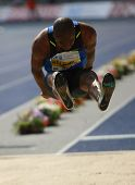 Irving Saladino Panama competing in the long jump at the Istaf Berlin International Golden League At