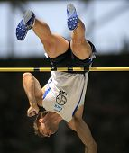 Bjorn Otto Germany competing in the pole vault at the Istaf Berlin International Golden League Athle