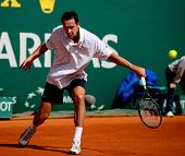 MONTE CARLO MONACO APRIL 21 Michael Llodra France competing at the ATP Masters tournament in Monte C