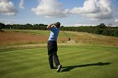 KENT ENGLAND JULY 3 England's David Howell Tees off whilst competing at the PGA European Tour Europe