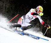 OFTERSCWHANG GERMANY JANUARY 27 Marlies Schild Austria Competing in the Audi FIS Alpine Ski World Cu