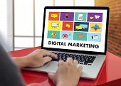 Digital Marketing New Startup Project ,  Market Interactive Channels , Business Innovation Marketing poster