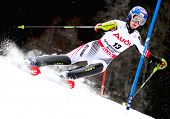 OFTERSCHWANG GERMANY JANUARY 27 Kathrin Zettel Austria Competing in the Audi FIS Alpine Ski World Cup Events 2007-2008