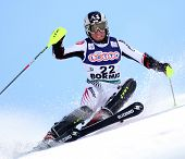 BORMIO ITALY MARCH 15 Marcel Hirscher Austria skiing at the Audi FIS World cup finals in Bormio Italy