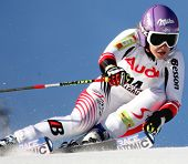 OFTERSCWHANG GERMANY JANUARY 26 Michaela Kirchgasser Austria Competing in the Audi FIS Alpine Ski World Cup Events 2007-2008