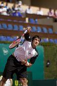 MONTE CARLO MONACO APRIL 23, David Ferrer ESP v Janko Tipsarevic SRB competing in the ATP Masters tournament in Monte Carlo, Monaco, 19-27 April 2008