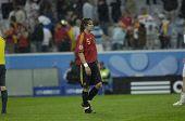 INNSBRUCK - JUNE 10: Carles Puyol of Spain Football National Team during the match Spain-Russia 4:1 Euro2008 Group D. June 10, 2008, in Innsbruck, Austria
