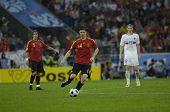 INNSBRUCK - JUNE 10: Xabi Alonso of Spain Football National Team during the match Spain-Russia 4:1 Euro2008 Group D. June 10, 2008, in Innsbruck, Austria