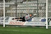 KAPOSVAR, HUNGARY - APRIL 4: Nenad Filipovics in action in the Hungarian National Championship socce