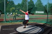 KAPOSVAR, HUNGARY - OCTOBER 3: Unidentified competitor in action at the athletics competition of und